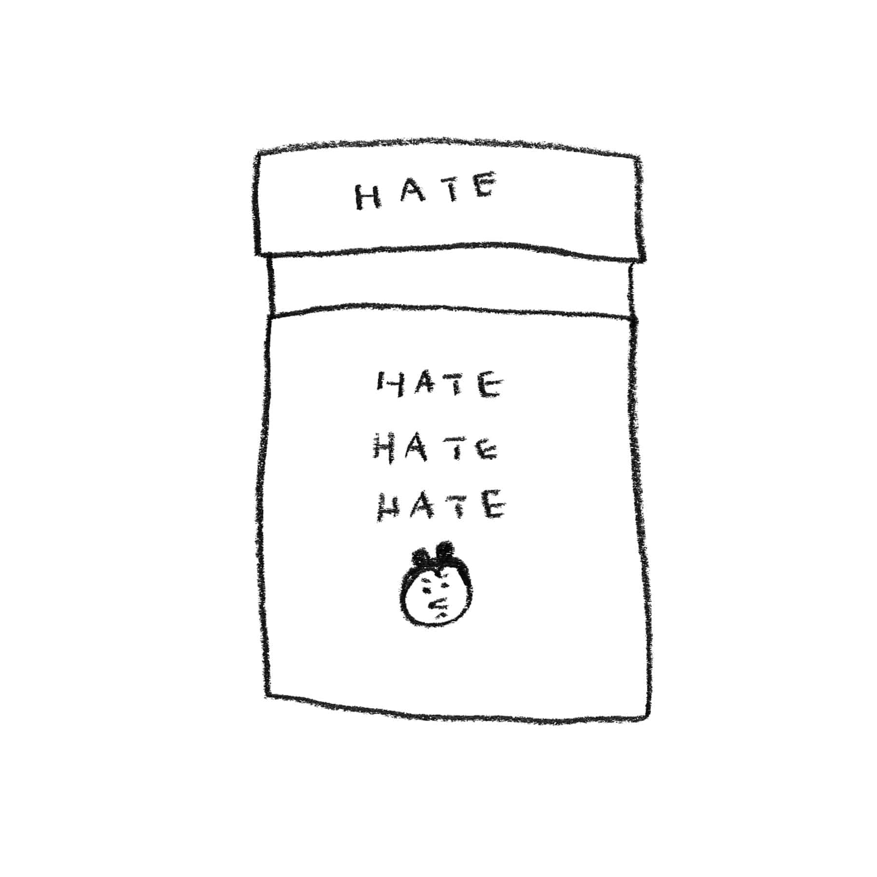 HATE STICKER