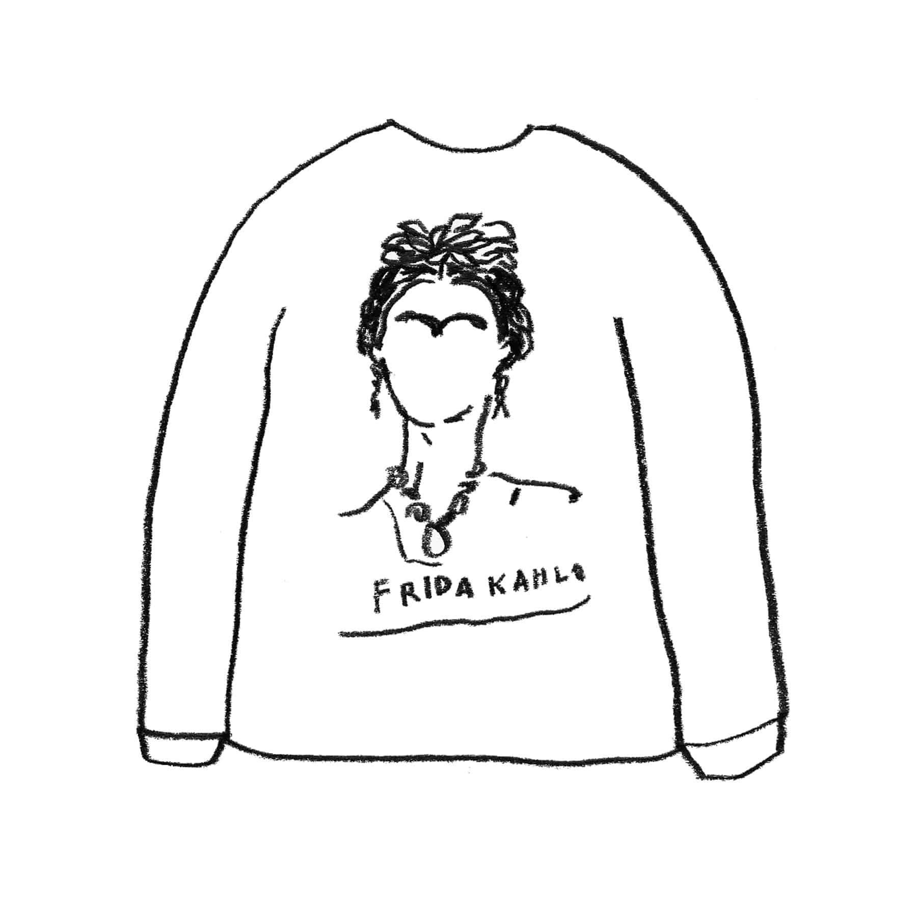 FRIDA KAHLO SWEAT SHIRT