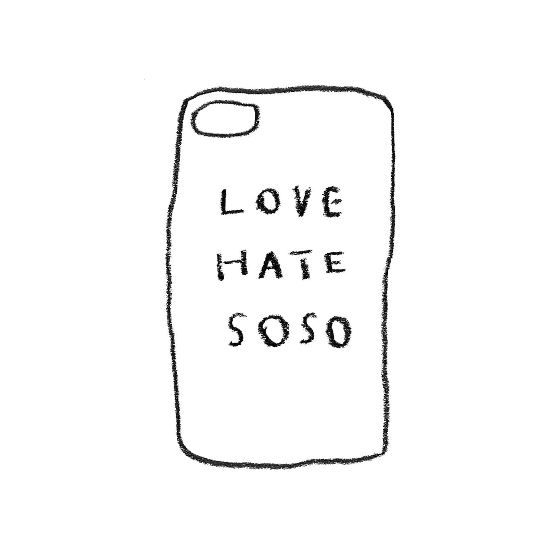 LOVE HATE SOSO JELLY CASE
