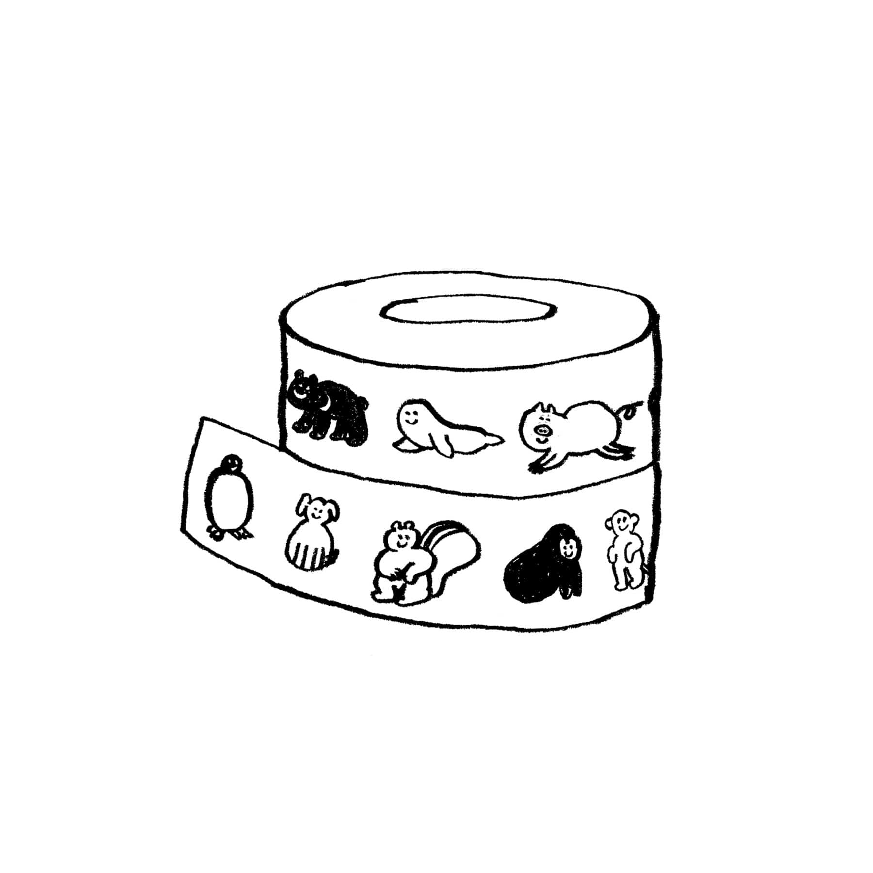 LOVE ANIMAL MASKING TAPE