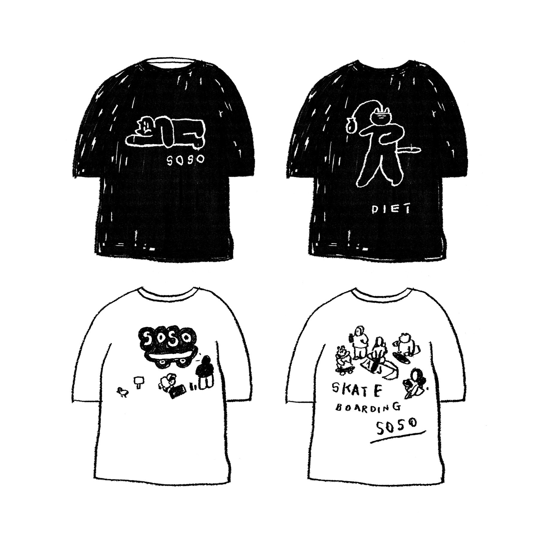 SOSO EXHIBITION 1/2 T-SHIRT