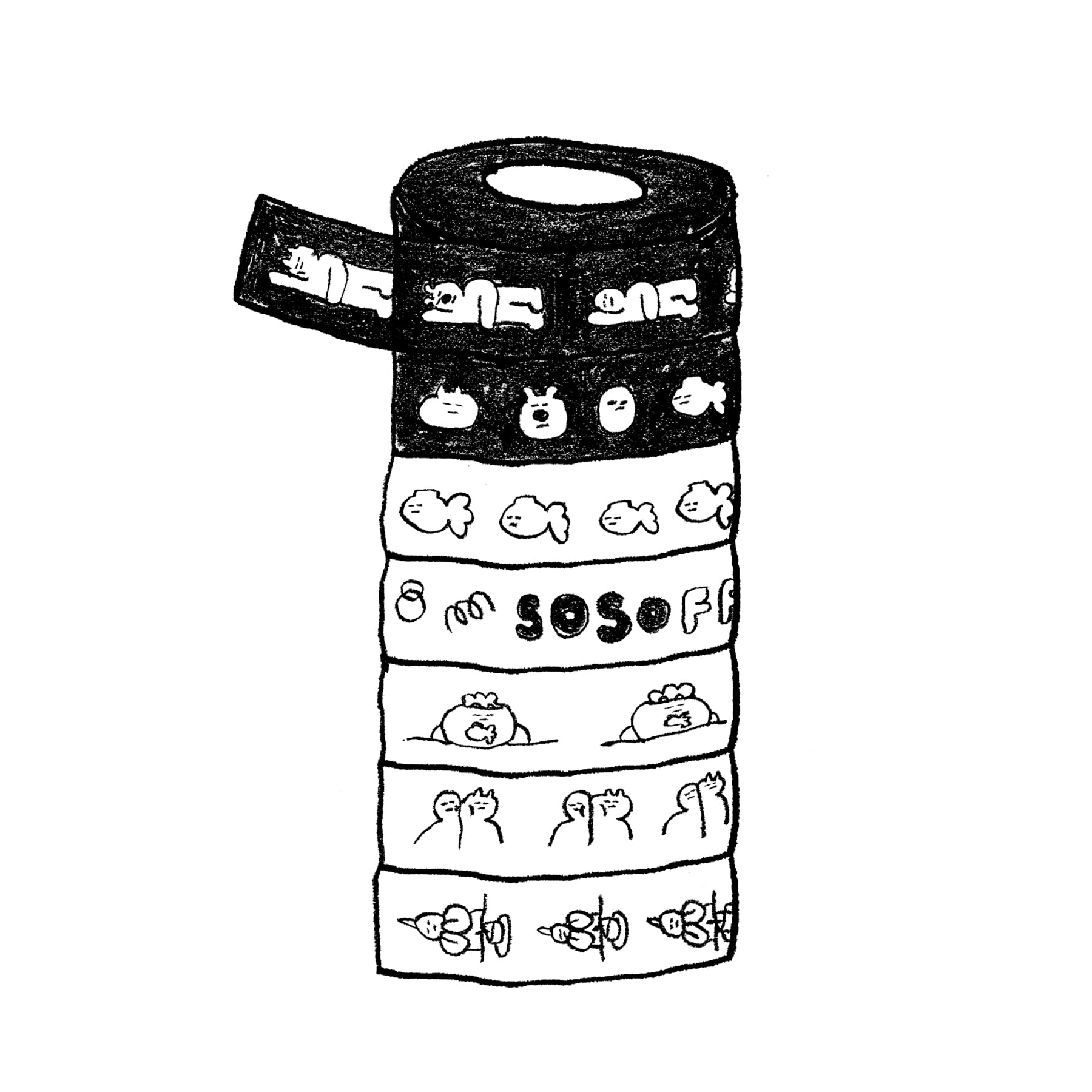 SOSO EXHIBITION MASKING TAPE(7종)