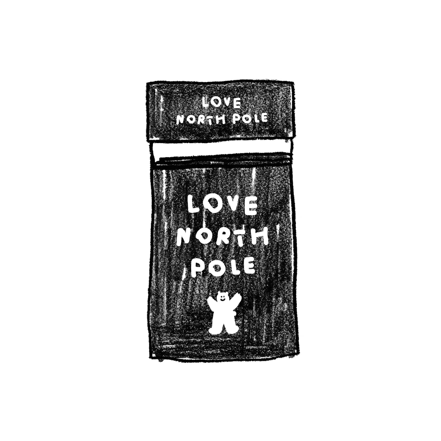 LOVE NORTH POLE STICKER