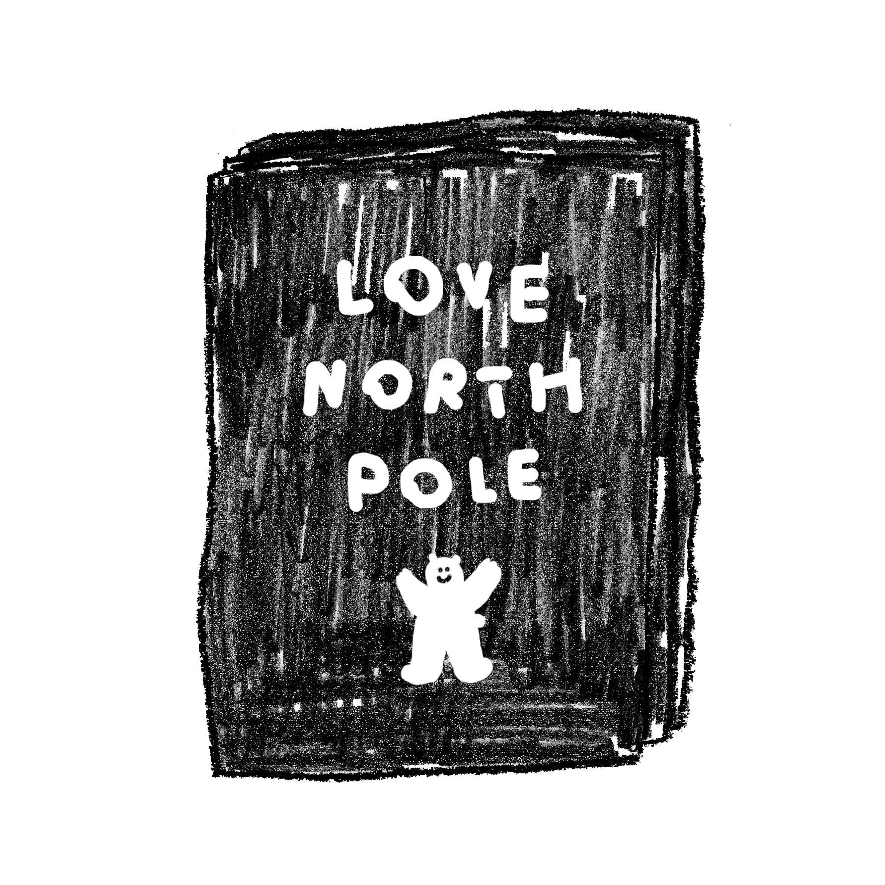 LOVE NORTH POLE POSTCARD