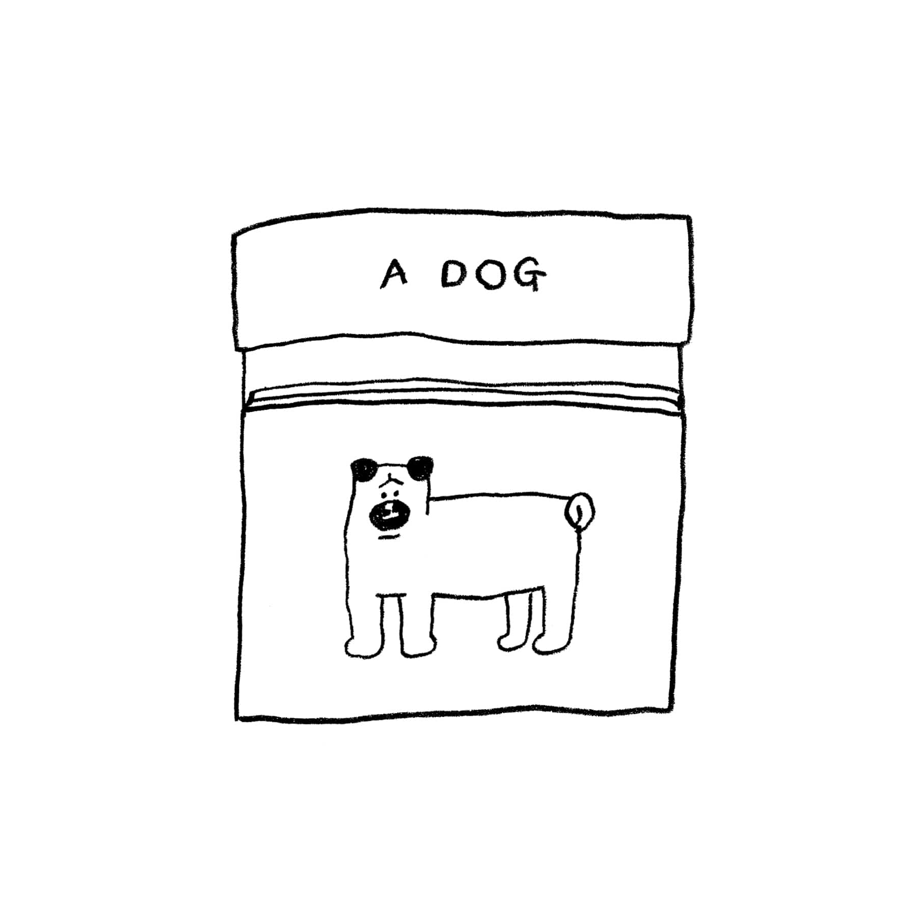 A DOG STICKER